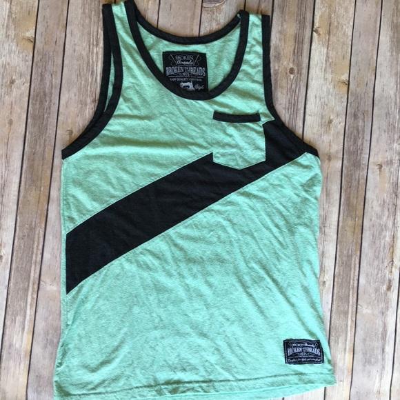 a385eb13116fc Broken Threads Other - Broken threads mint green muscle tank top